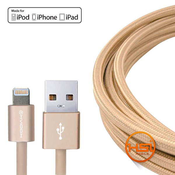 a042737ebf8 Cable Datos Kodiak Lightning MFI Aluminum - HSI Mobile