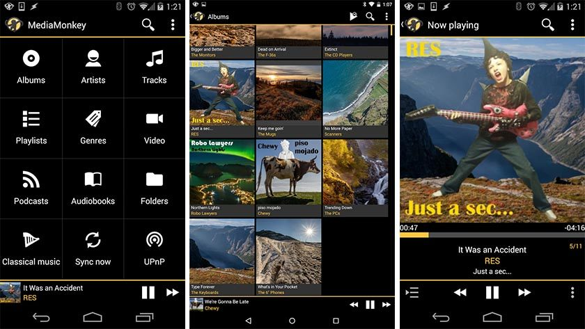 Los mejores reproductores android - MediaMonkey