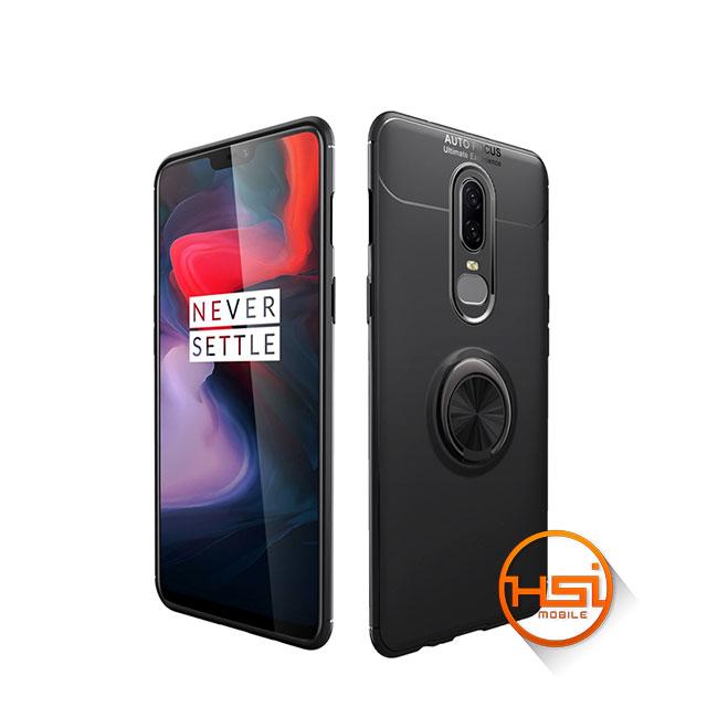 72386caf1ef Forro Silicona + anillo soporte magnético OnePlus 6 - HSI Mobile